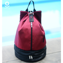 Backpack Maroon Black