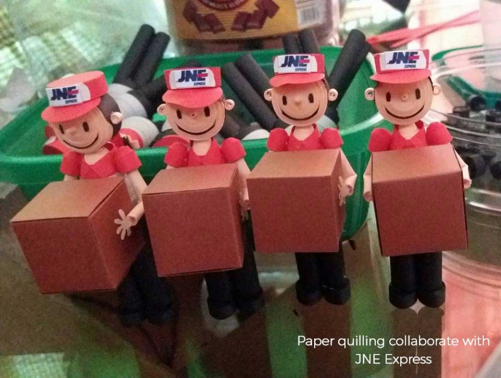 Paper quilling for JNE Express