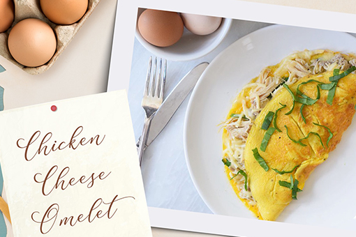 Chicken Cheese Omelet image