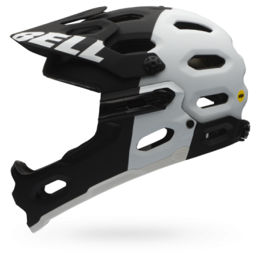 Bell Super 2R MIPS-Equipped Matte Black/White Aggression image