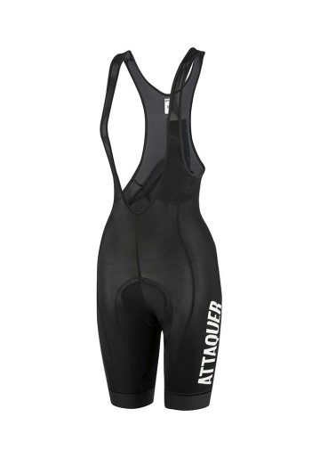 ATTAQUER WOMEN RACE BIB SHORT BLACK/WHITE LOGO image