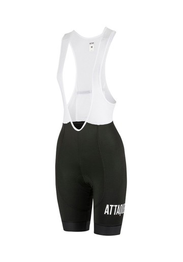 ATTAQUER WOMEN ALL DAY BIB SHORT BLACK/WHITE LOGO image