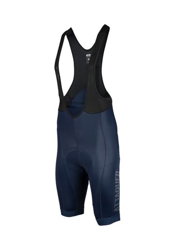 ATTAQUER BIB SHORT RACE NAVY CLEAR LOGO image