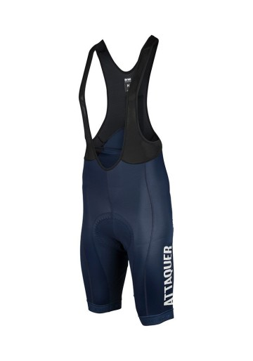 ATTAQUER BIB SHORT RACE NAVY WHITE LOGO image