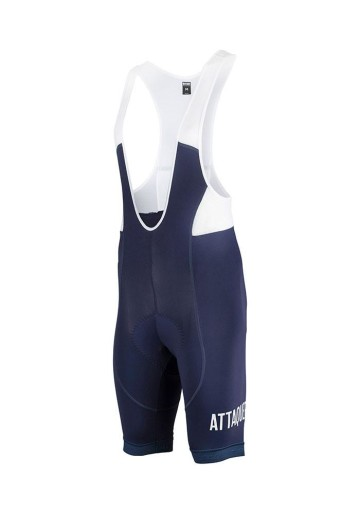 ATTAQUER BIB SHORT ALL DAY NAVY WHITE LOGO image