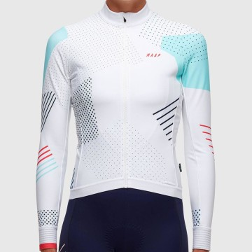 MAAP WOMENS 22 DEGREE WINTER LS JERSEY WHITE image