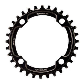 PRAXIS CHAINRING 32T 104BCD BLACK WAVE MTB image