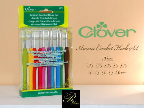 Clover Amour Crochet Hook Set 10 Pcs
