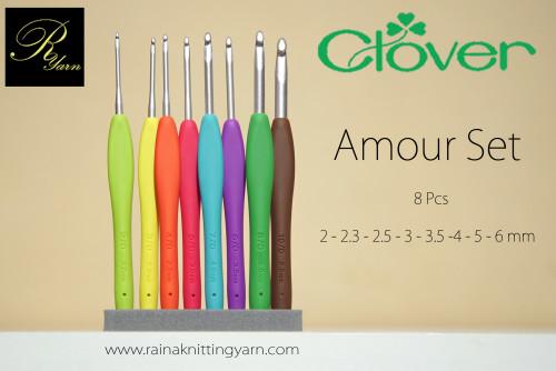 Clover Amour Crochet Hook Set 8 Pcs