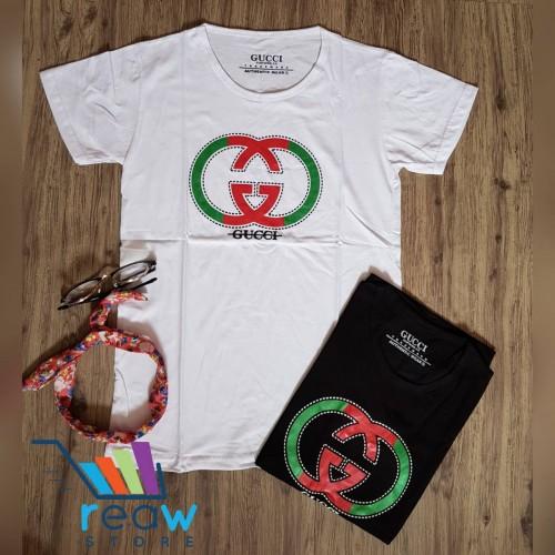 37d061d5dca ... Kaos   Tumblr Tee   T-Shirt Wanita   Cewek Gucci Logo Hijau Merah ·  PrevNext. large image