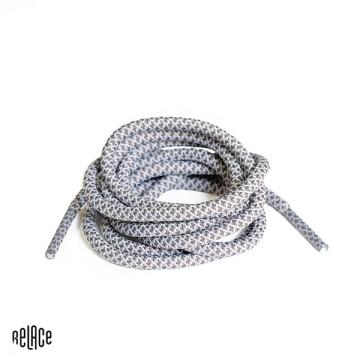 Grey/White Rope Laces image