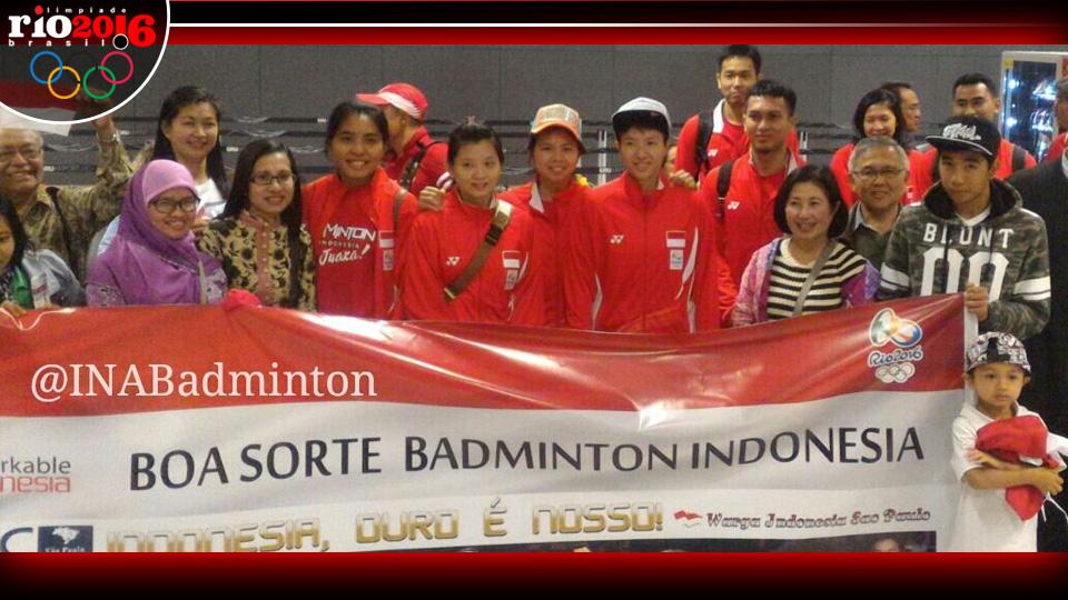 Tim Bulutangkis Indonesia Telah Tiba di Brazil