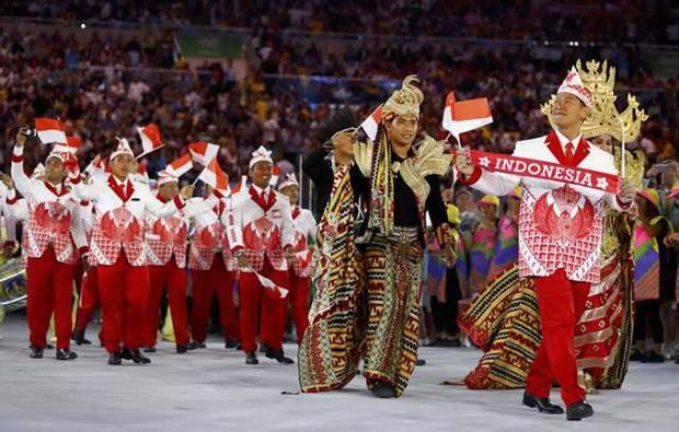 Kontingen Indonesia Tampil Unik di Pesta Pembukaan Olimpiade
