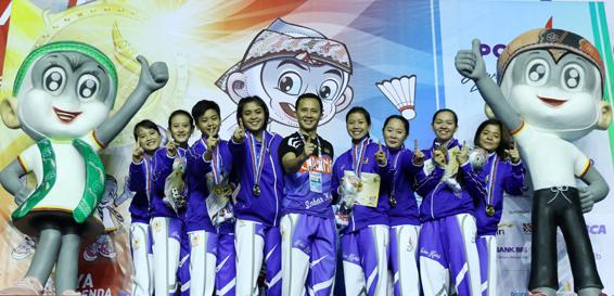Jawa Barat Kawinkan Medali Emas Beregu Putra dan Putri Cabang Bulutangkis
