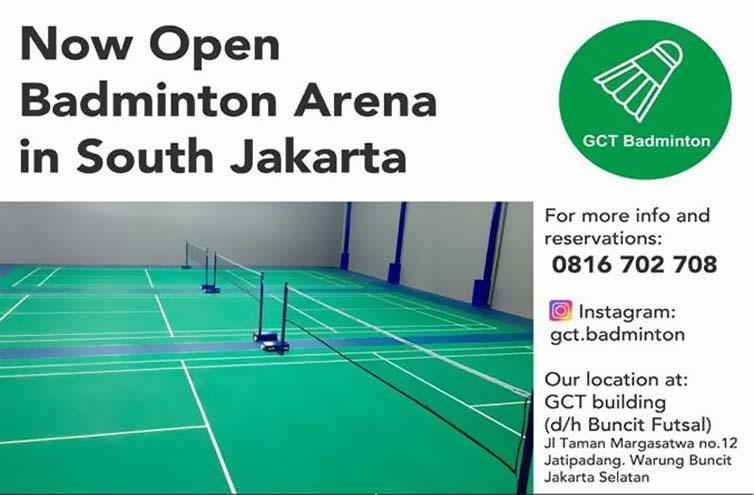 GCT Badminton Arena, GOR BARU DI KAWASAN STRATEGIS
