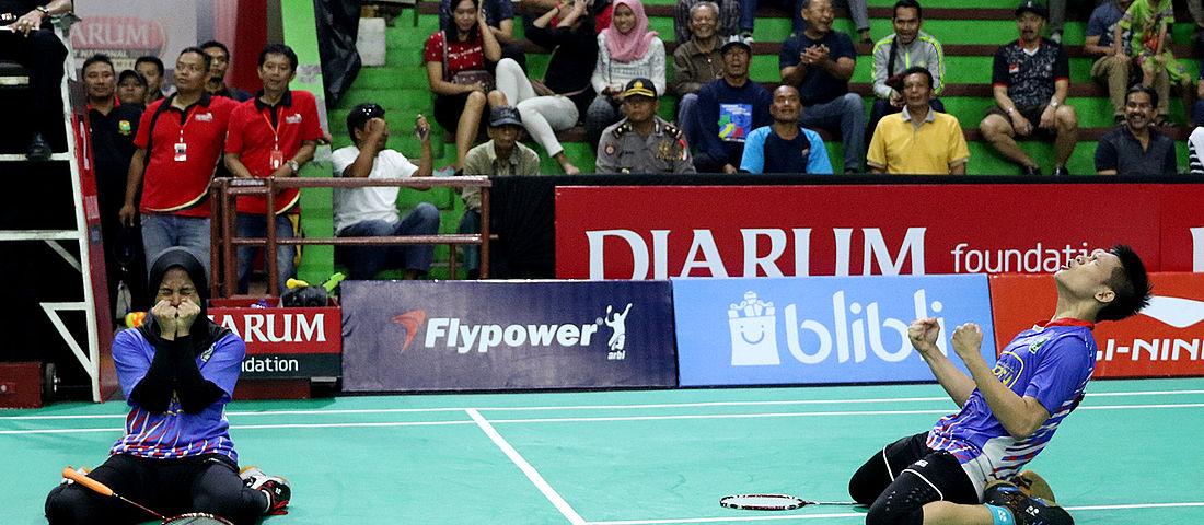 M. Juan Elgiffani/ Windi Siti Mulyani, Juara Mix Double Taruna di Sirnas Premier Jawa Barat 2018