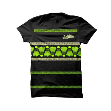 Baju Distro Badminton (Black/Green) image