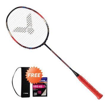 Racket Victor Hypernano X 900 + Tas Cover + Senar VBS 63 + Grip Victor