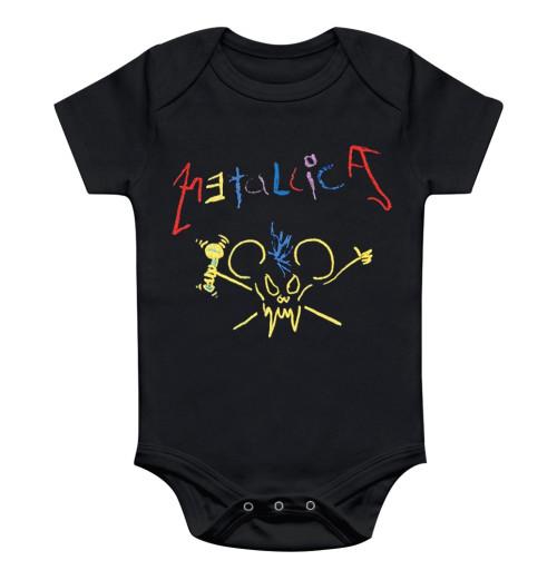 Metallica - Crayon Baby Rompers