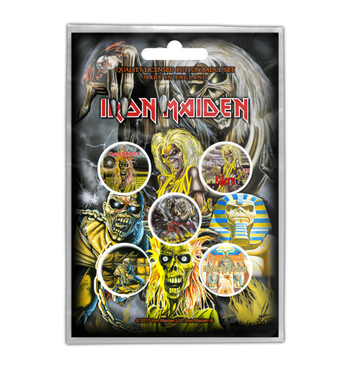 Iron Maiden - Early Album Button Badge Pack 5