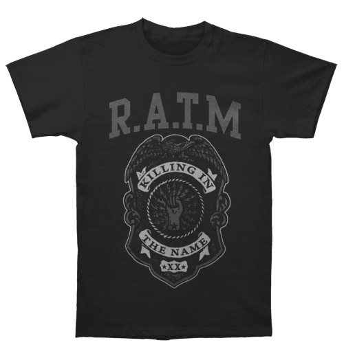 Rage Against The Machine - Grey Police Badge