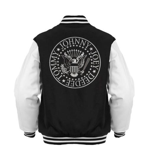 Ramones - Presidential Seal Black/White Varsity Jacket