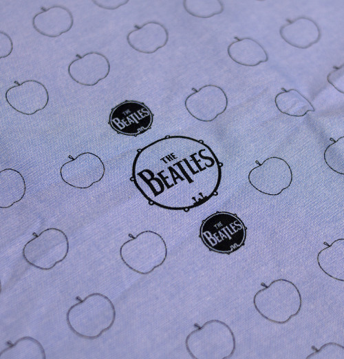 The Beatles - Drum And Apples Denim Shirt