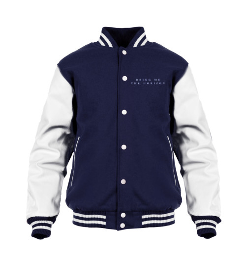 Bring Me The Horizon - Umbrella Navy/White Varsity Jacket