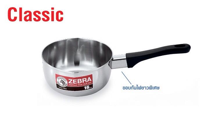 Zebra Classic Sauce Pan S/S 1 Handle image