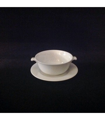 Hankook St.James Soup Bowl+Saucer  - Cha In Series - Pack of 2 Sets image