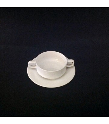 Hankook St.James Soup Bowl+Saucer  - Wangsil Series - Pack of 2 Sets image