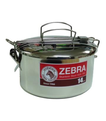 Zebra Food Carrier Single - Travel Sauce Pot 1 handle image