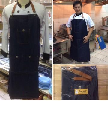 Bareca Apron Full / Celemek Jeans Tali Kulit Calve image