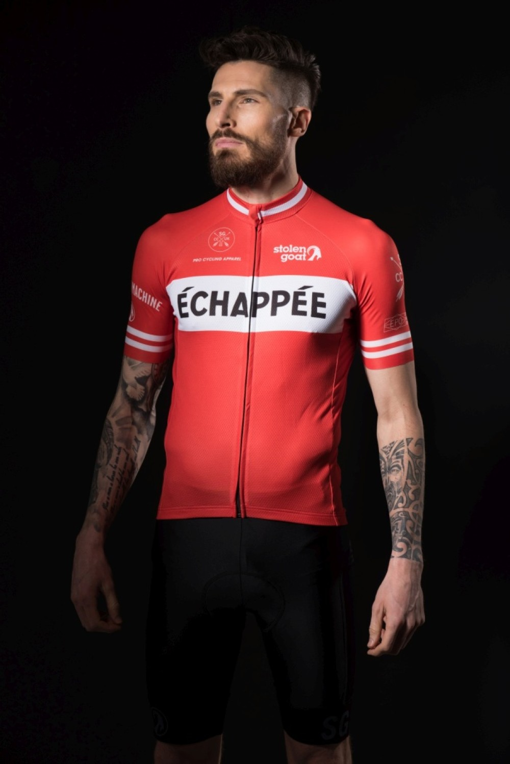 Stolen Goat Men s Limited Edition – Echappee Red Cycling Jersey 78ebf959e
