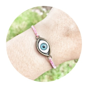 evil eye pink pale image