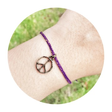 peace bronze, deep purple image