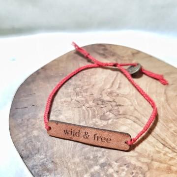 "leather ""wild & free"""