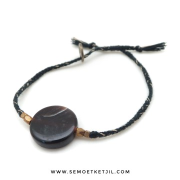 coin agate black