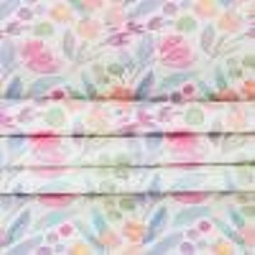 Table Runner Besar Bunga Lavatera - Seruni Living