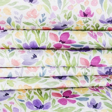 Table Runner Kecil Bunga Cosmos - Seruni Living