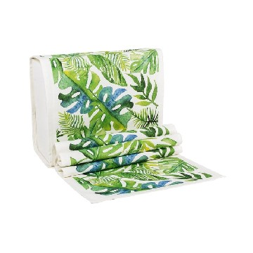Table Runner Kecil Daun Monstera Hijau - Seruni Living