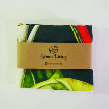 Cushion Cover Daun Pisang Hitam - Seruni Living