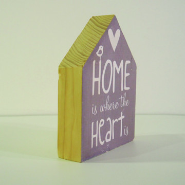 Wood Home Decor quote - Home is where the HEART is - Seruni Living