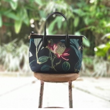 Premium Hand Bag Forest Orchid Black