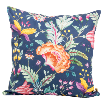 Cushion Cover Anyelir Biru Tua  - Seruni Living