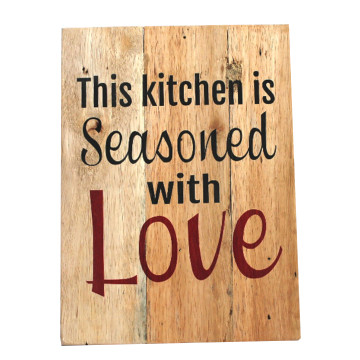 Wood Wall (quote) This Kitchen Is Seasoned With Love - Seruni Living