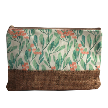 Pouch Canvas Lantana Orange - Seruni Living