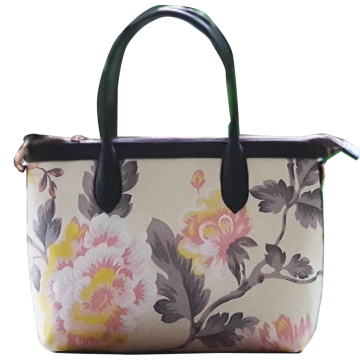 Premium Hand Bag Chrysant Cream