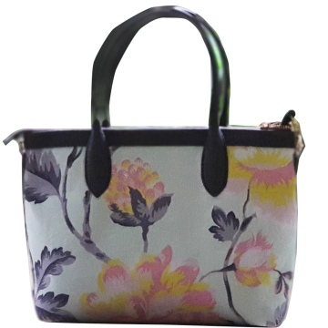 Premium Hand Bag Chrysant Light Blue