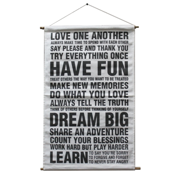 Banner Canvas Quote Love One Another Dream Big - Seruni Living